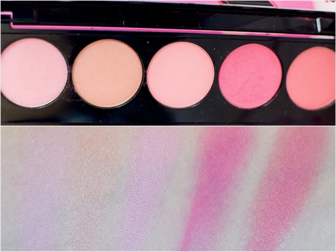 L'Oréal Infaillable Blush Paint Palette The Pinks, Swatch