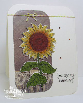 ODBD Be A Sunflower, ODBD Custom Sunflower Die, ODBD Custom Rounded Rectangles Dies, ODBD Follow The Son Paper Collection, Card Designer Angie Crockett