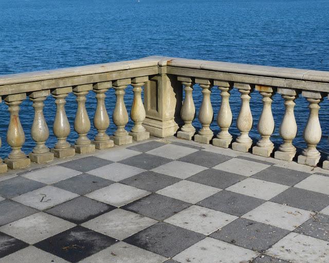 A corner of the balustrade, Terrazza Mascagni, Livorno