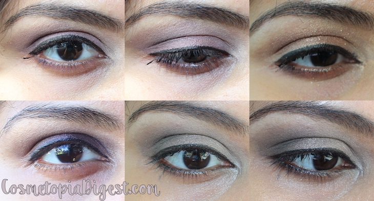 Lancome Auda[City] in London Eyeshadow Palette makeup looks