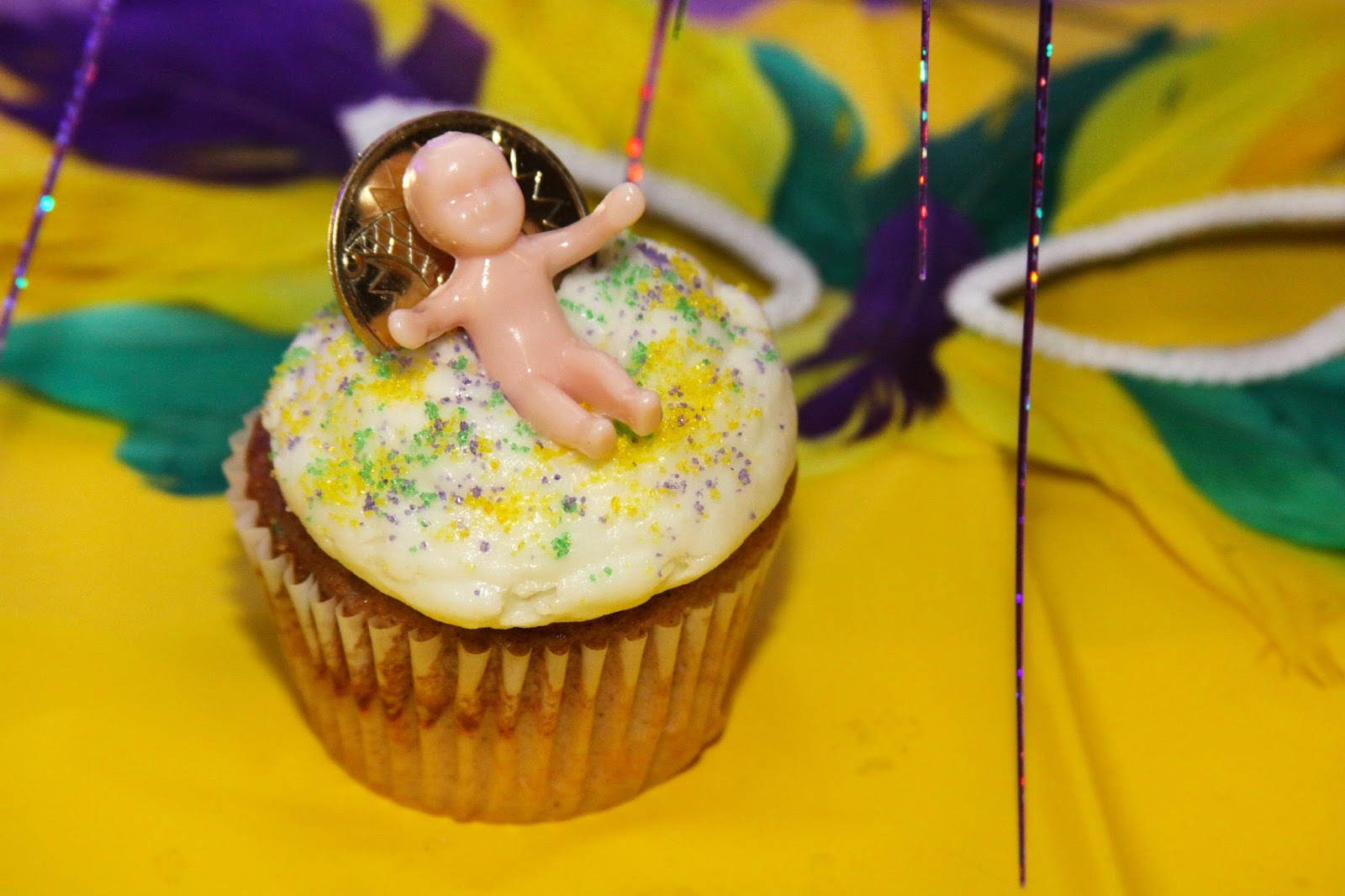 King Cake Flavored Cupcakes