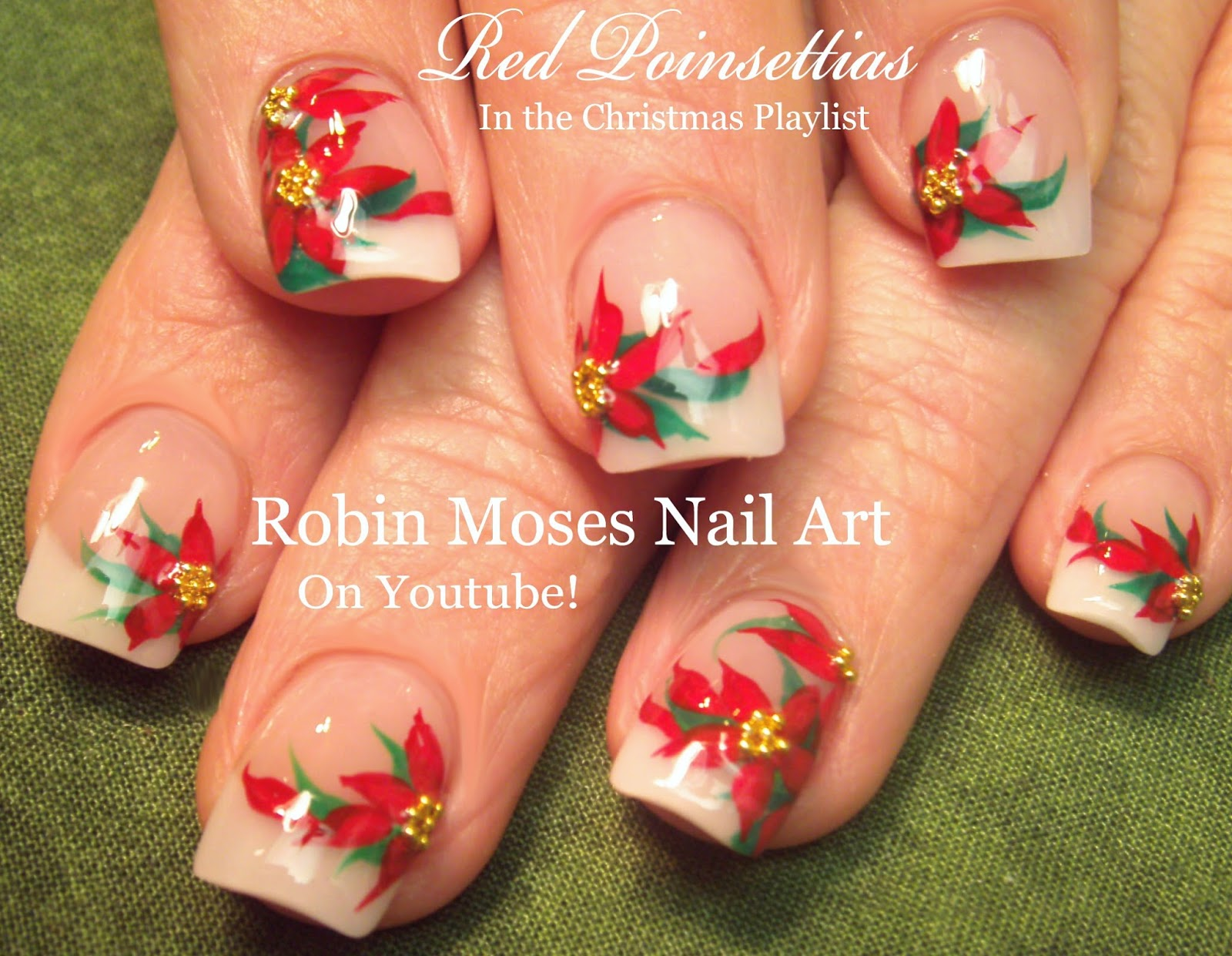 Nail Art By Robin Moses Christmas Bunnies Nail Art Design