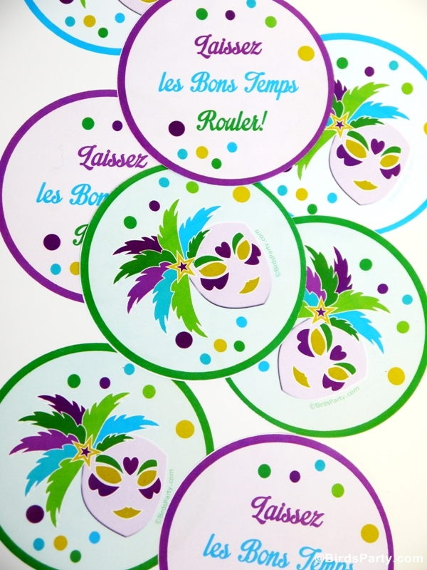 FREEBIES Printables de Mardi Gras | BirdsParty.fr