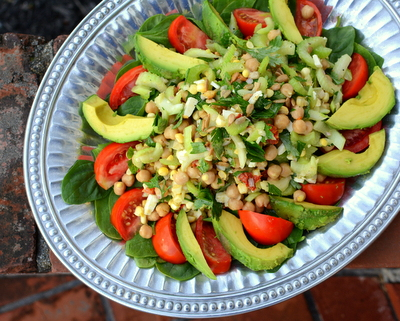 Celery & Chickpea Salad, another healthy salad ♥ AVeggieVenture.com.