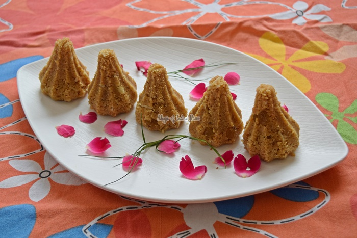 Ganpati Churma Ladoo (Modak) Recipe - चूरमा गुड़ लड्डू  रेसिपी - Priya R - Magic of Indian Rasoi