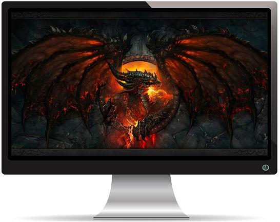 World of Warcraft Dragon Feu Ailes - Fond d'Écran en Full HD 1080p