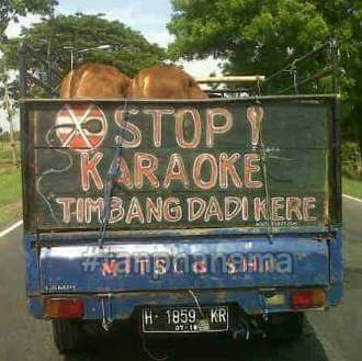 tulisan truk lucu di jawa