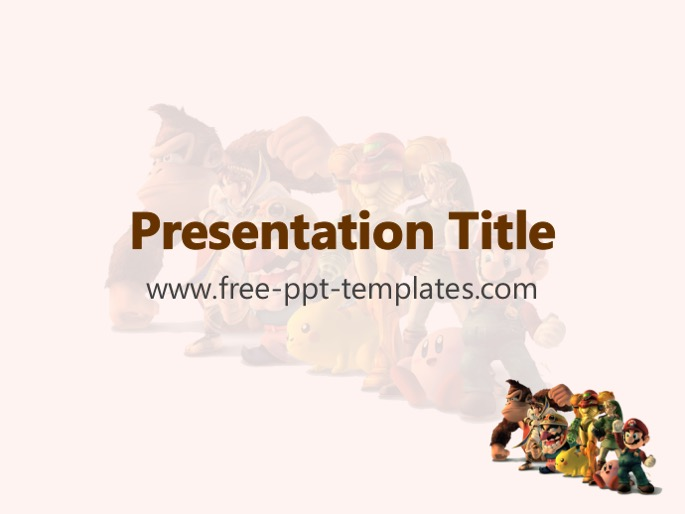 Video game ppt template toneelgroepblik