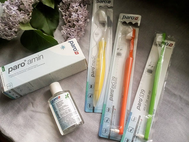 Produkty do higieny jamy ustnej  firmy Paro Medic