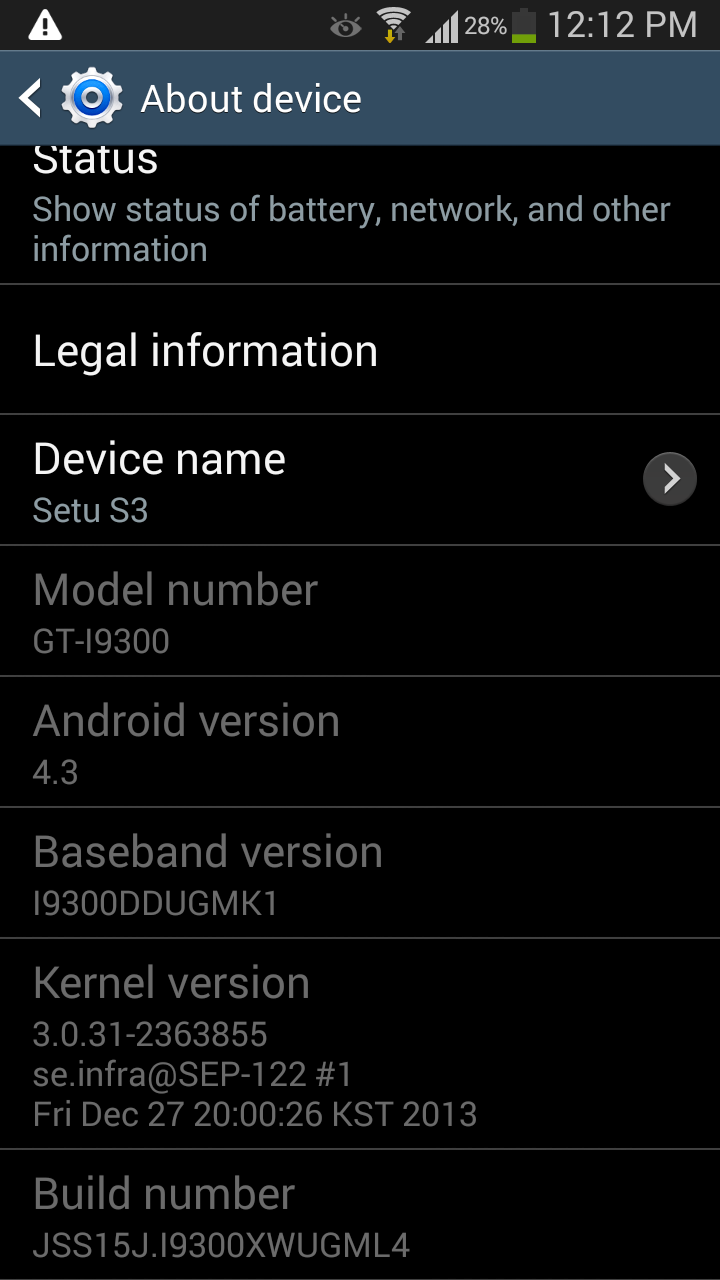 Android 4.3 install problem in Samsung Galaxy S3