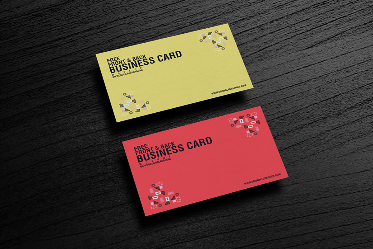 Free Business Card Mockup PSD for GraphicRiver - MaxpoinT Hridoy