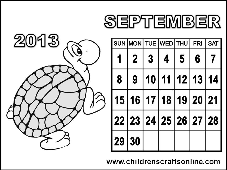 page a day calendar coloring pages - photo #23