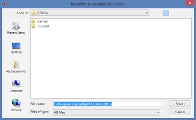 Memilih Directory penyimpanan aplikasi MATLAB