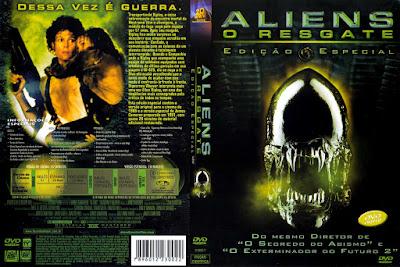 Filme Aliens 2 - O Resgate DVDRip Versão Estendida DVD Capa