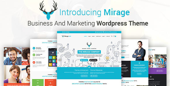 Download MIRAGE - Business And Marketing WordPress Theme