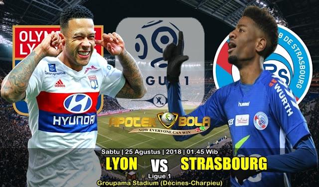 Prediksi Olympique Lyonnais Vs Strasbourg 25 Agustus 2018