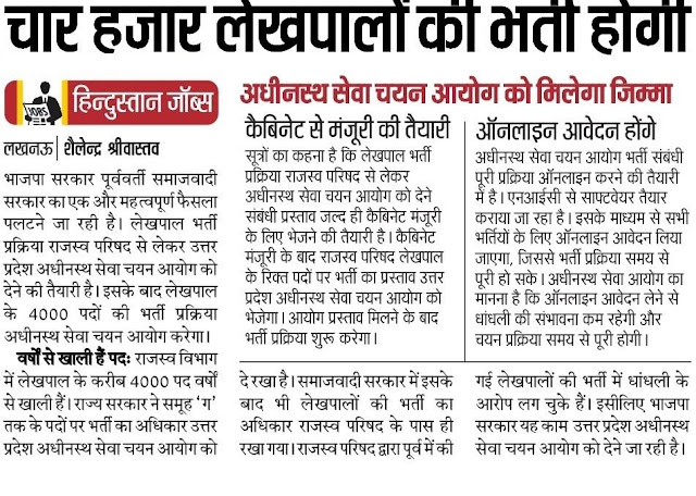 UP Lekhpal Vacancy