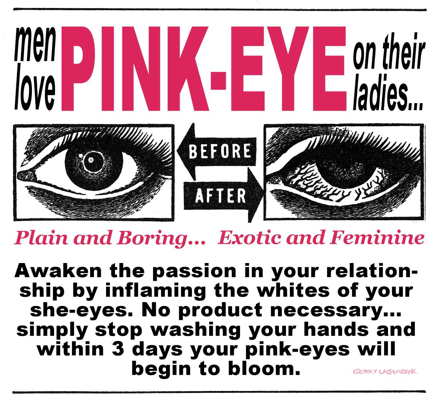 pink eye, advertising parody