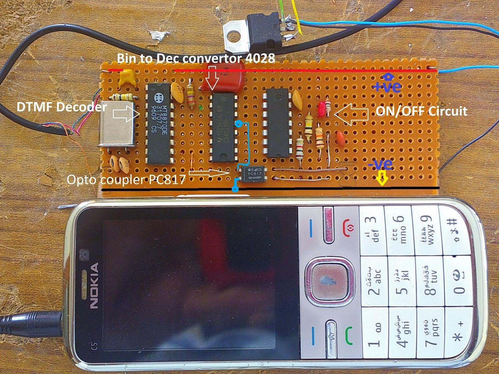 KSF ELECTRONICS: ON/OFF Switch GSM based (DTMF)