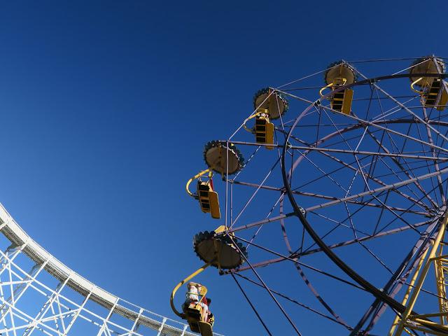 ferris wheel, inside luna park, St Kilda's beach, Melbourne