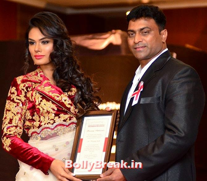 Miss Diva Universe Noyonita Lodh with Elvis Joseph, Founder Director, Red Ribbon Revolution, A fashion show to fight AIDS in Mumbai