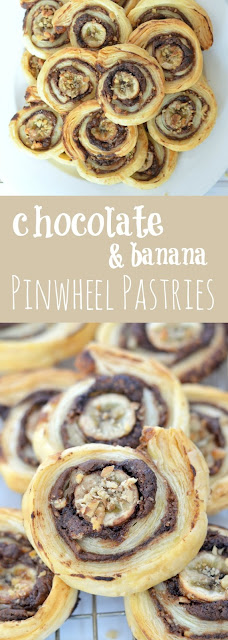 Chocolate & Banana Pinwheel Pastries