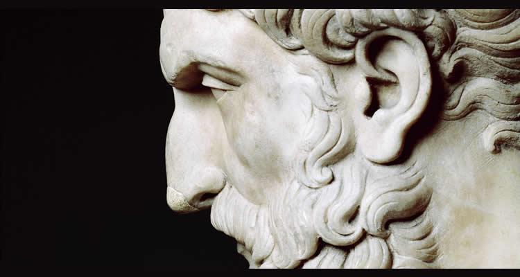Busto de Epicuro.