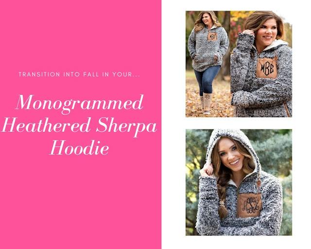 cozy sherpa hoodie in grey