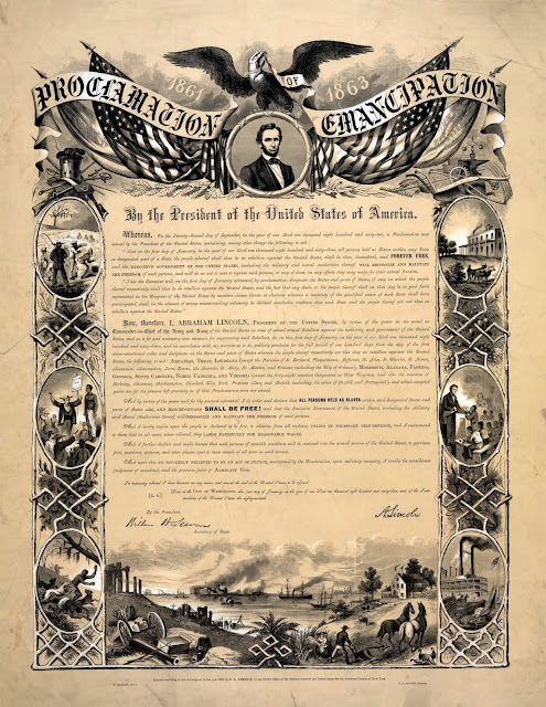Copy of Emancipation Proclomation. Visit this web page for full text https://docs.google.com/document/d/1lcJp5OG2ePzuNsf0b2HcC4kUWJl55lvITfs_6Fi_sq8/edit