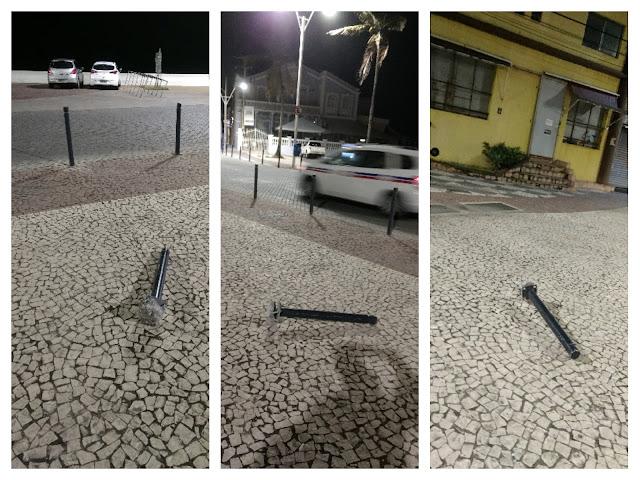 O vandalismo continua na rua Guedes Cabral