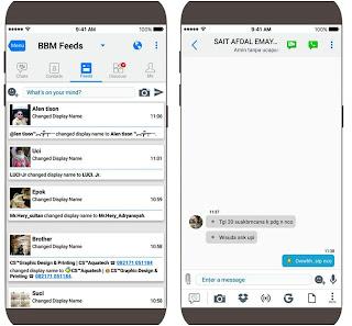 BBM Like iOS v2 Versi 3.3.1.24 Apk