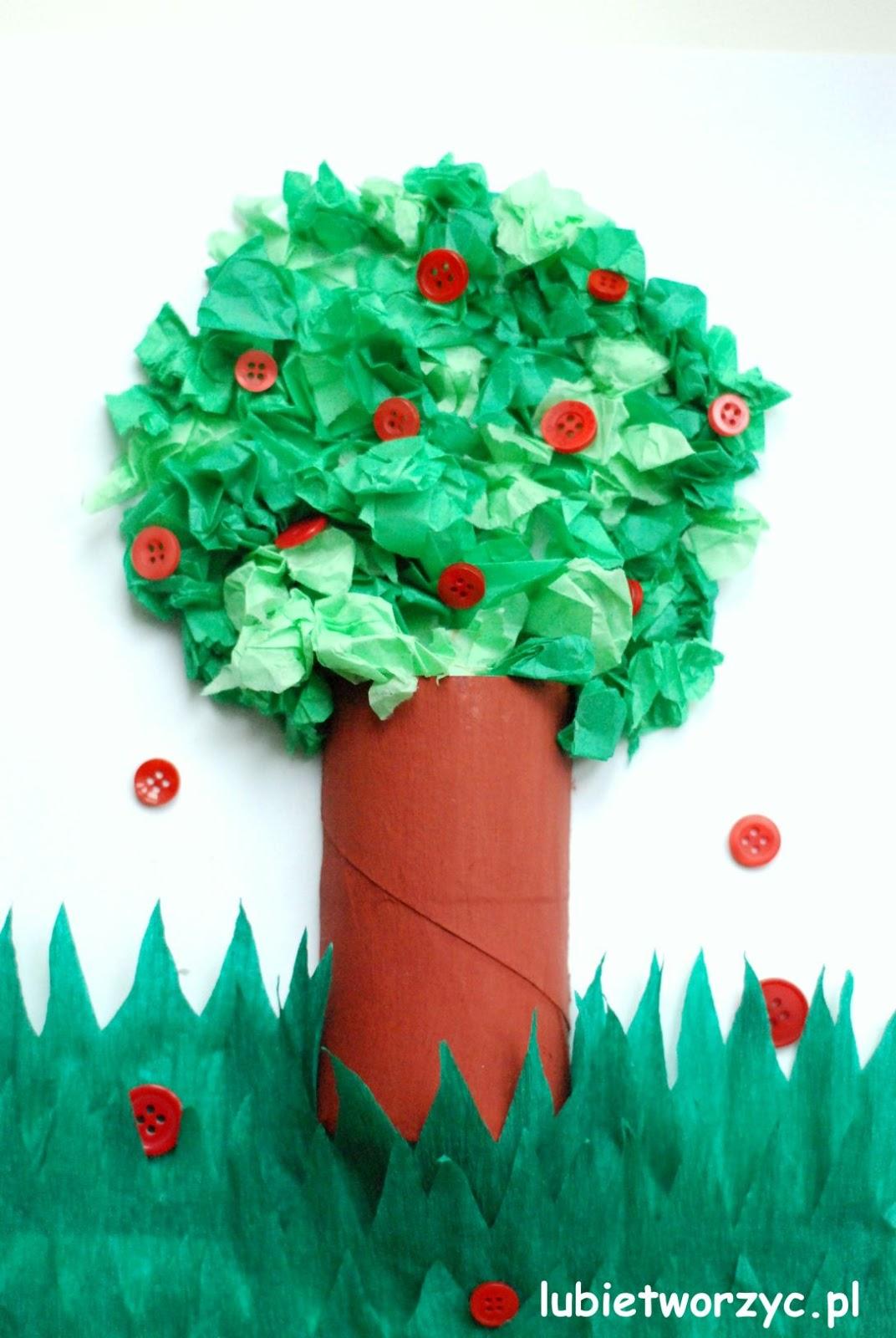 Lubię Tworzyć Drzewo Z Rolki Po Papierze Toaletowym Bibuły