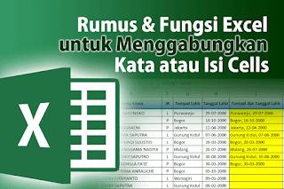 Tutorial Cara menggabungkan teks dengan rumus dan fungsi Excel