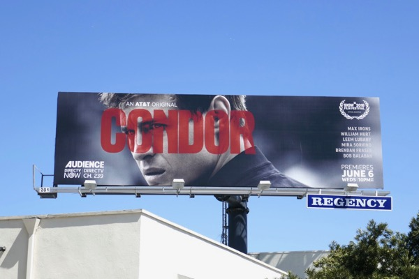Condor series premiere TV billboard