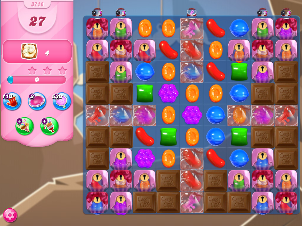 Candy Crush Saga level 3716