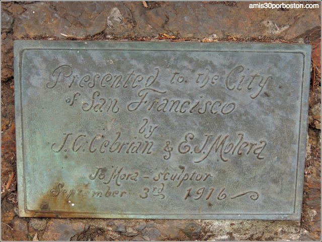 Golden Gate Park: Placa de la Escultura de Cervantes