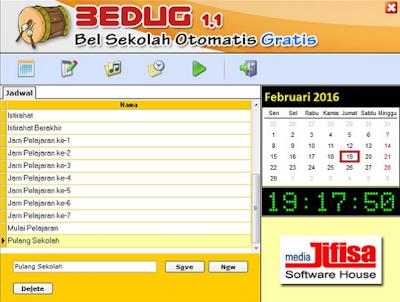 Software Bel Sekolah Otomatis dilengkapi 25 Suara Pemberitahuan Gratis
