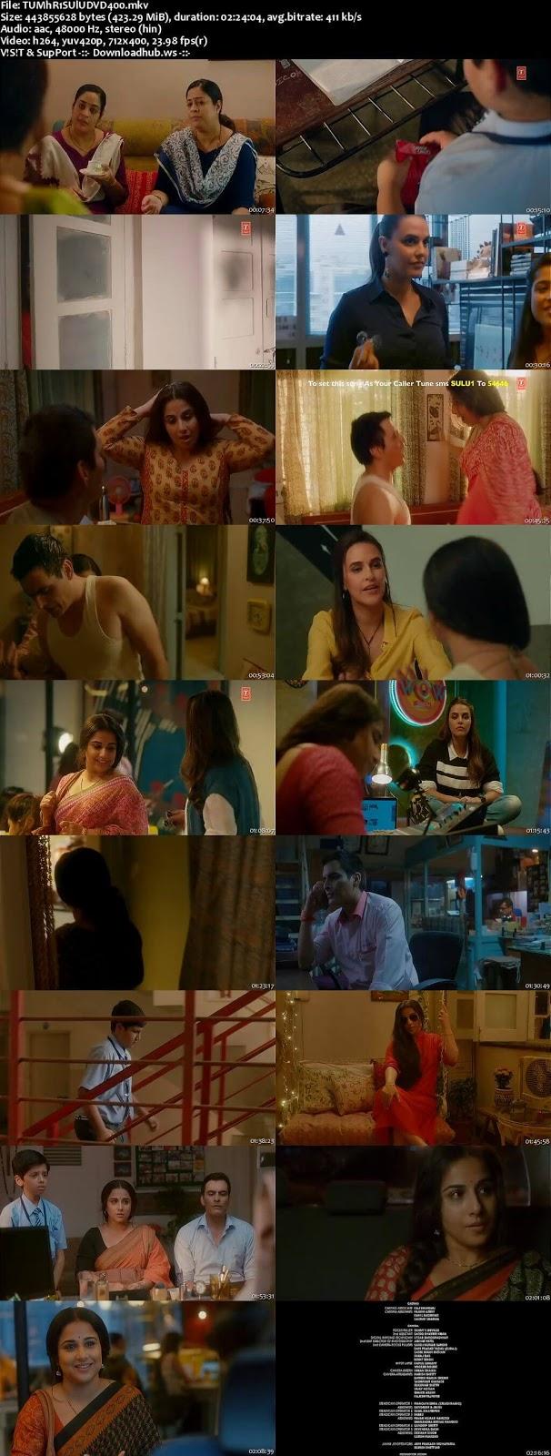 Tumhari Sulu 2017 Hindi 480p DVDRip ESubs