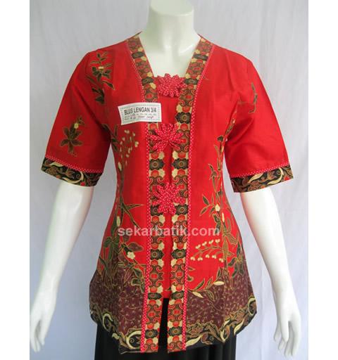Model Batik Kerja Santai: Baju Batik Wanita