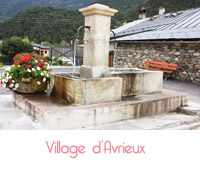 fontaine du village d'avrieux