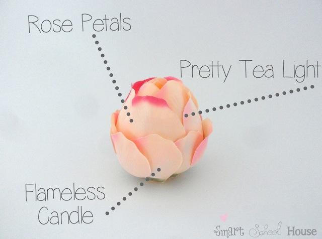 DIY Project: Flameless Rose Tea Lights
