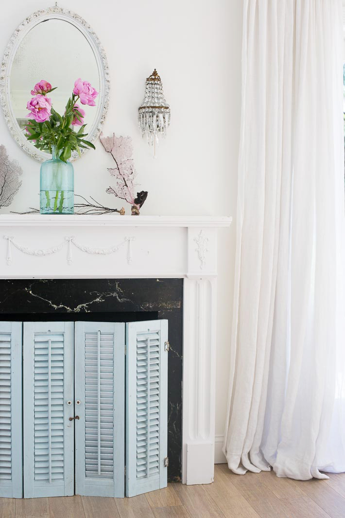 coastal mantel design