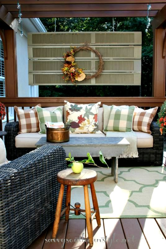 Savvy Southern Style Fall Decor Ideas For A Small Porch