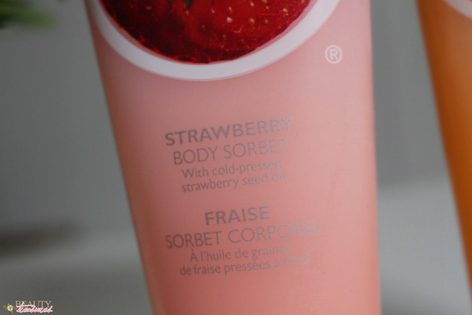 The Body Shop body sorbet