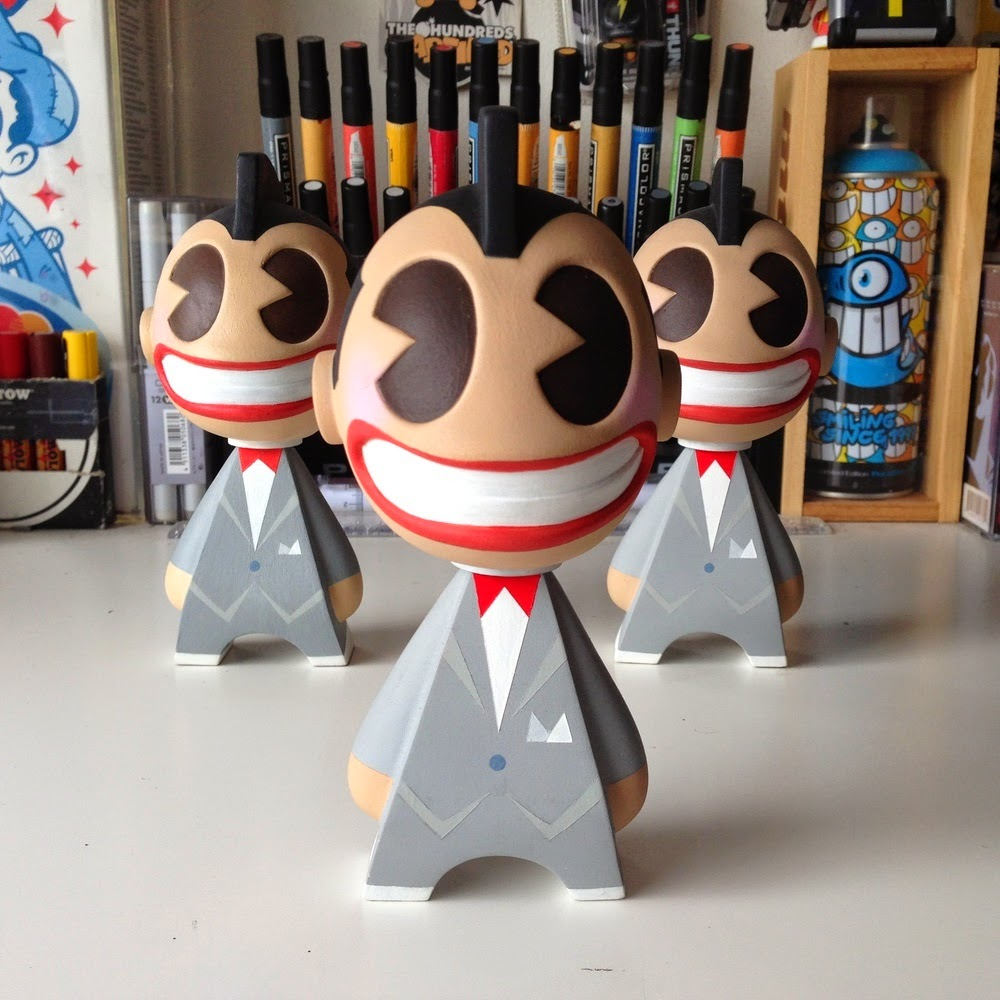 Pee-Wee Custom Vinyl Figures by kaNO