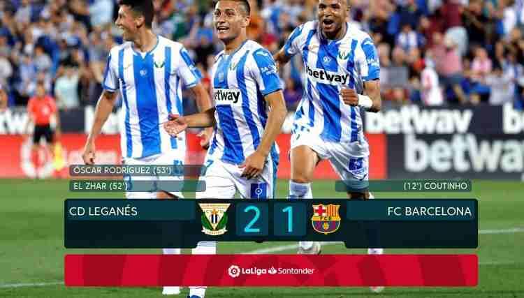 Hasil Leganes vs Barcelona Skor Akhir 2-1