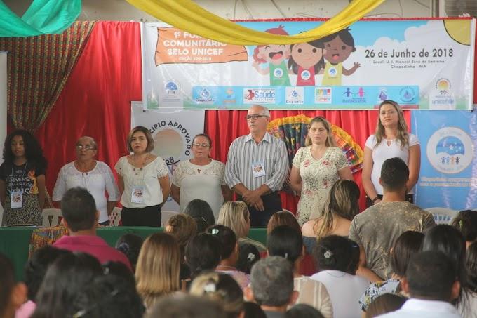 CHAPADINHA REALIZA 1º FÓRUM COMUNITÁRIO DO SELO UNICEF