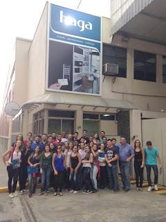 Engenharia de Produção do UNIFESO em visita técnica à empresa Haga, em Nova Friburgo