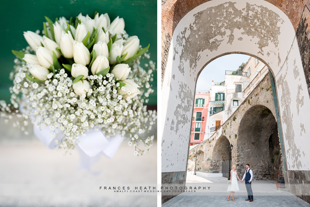 Wedding bouquet on the Amalfi Coast