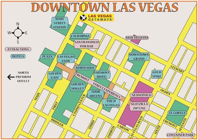 Região da Downtown Las Vegas para ficar em Las Vegas